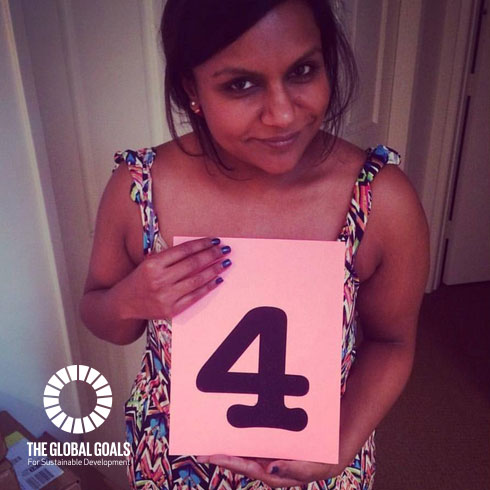 Mindy Kaling Supports Goal 4 Quality Education
